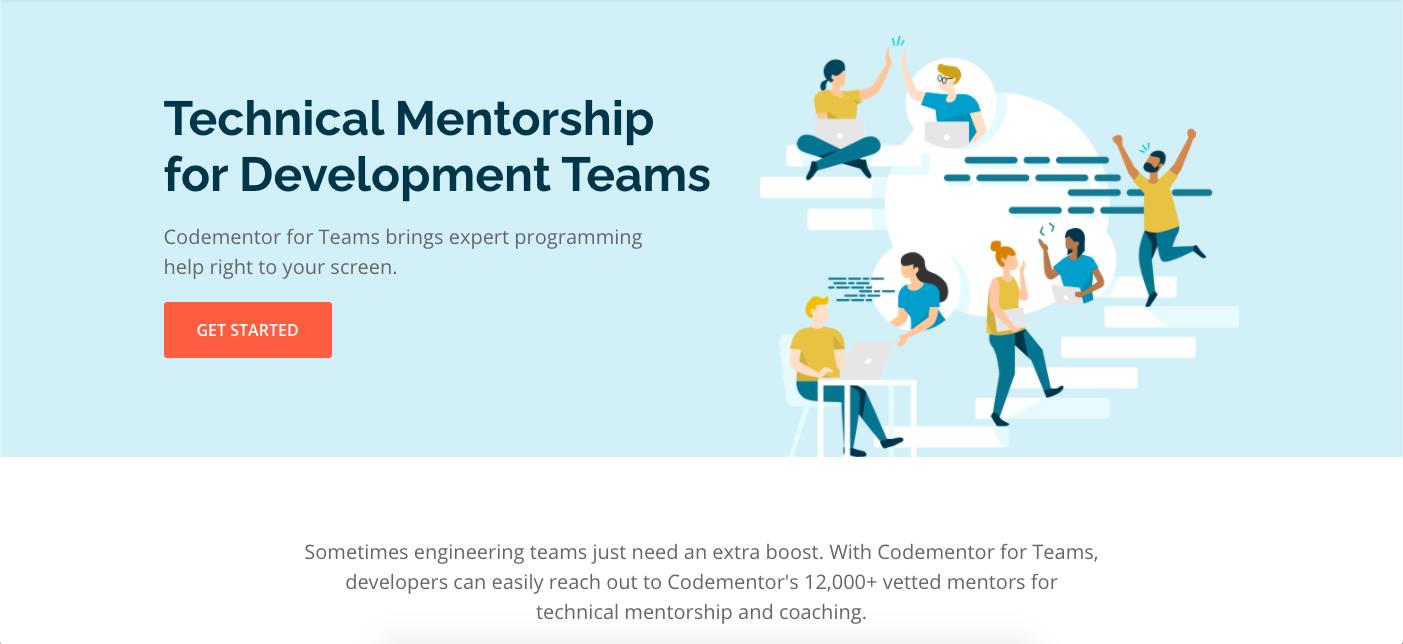 Codementor for Teams Mentorship for developer teams.png