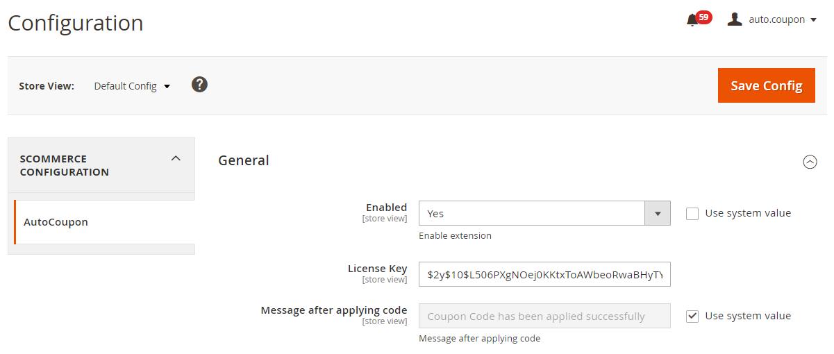 Magento 2 apply discount via link config