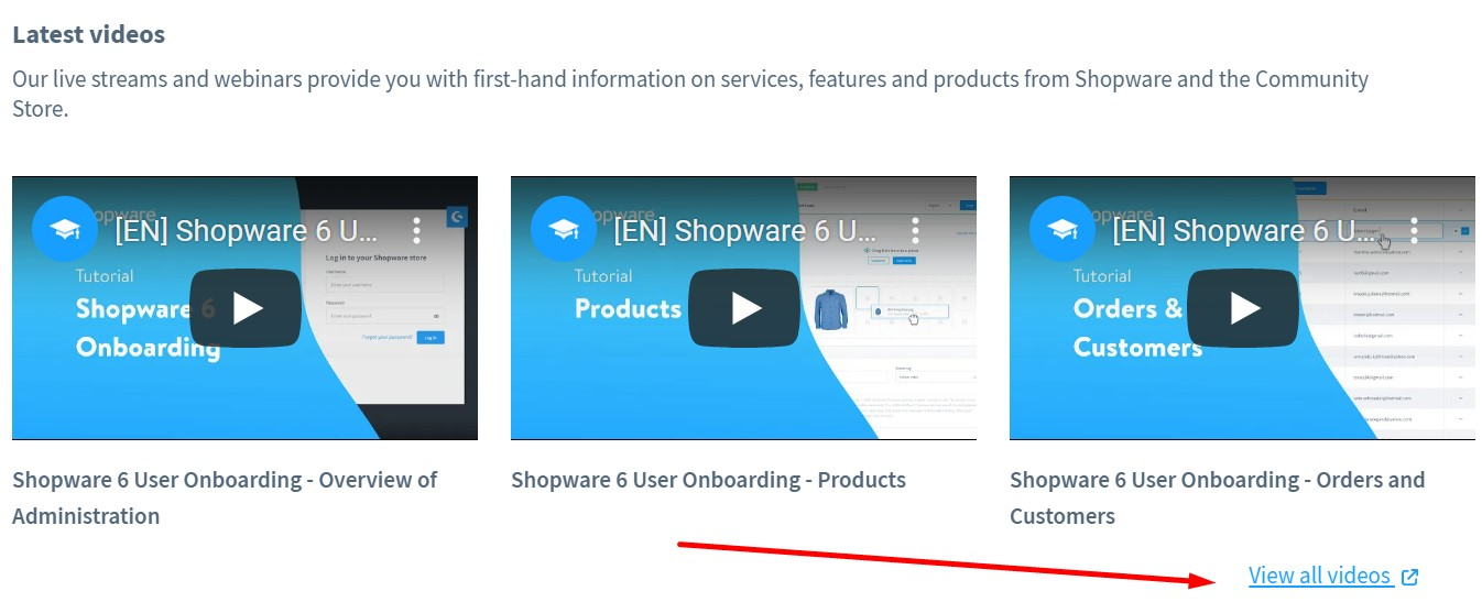 Shopware 6 dashboard overview