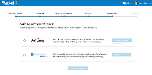 Payment info walmart