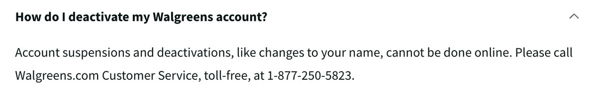 Walgreens makes customers call customer service to cancel the accounts they force them to make.