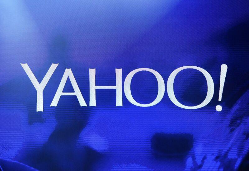 A Yahoo logo.
