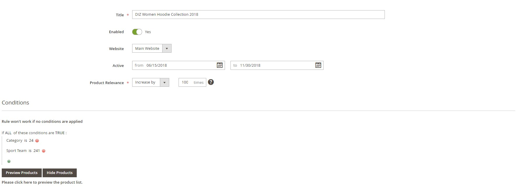Amasty Magento 2 Elastic Search extension backend