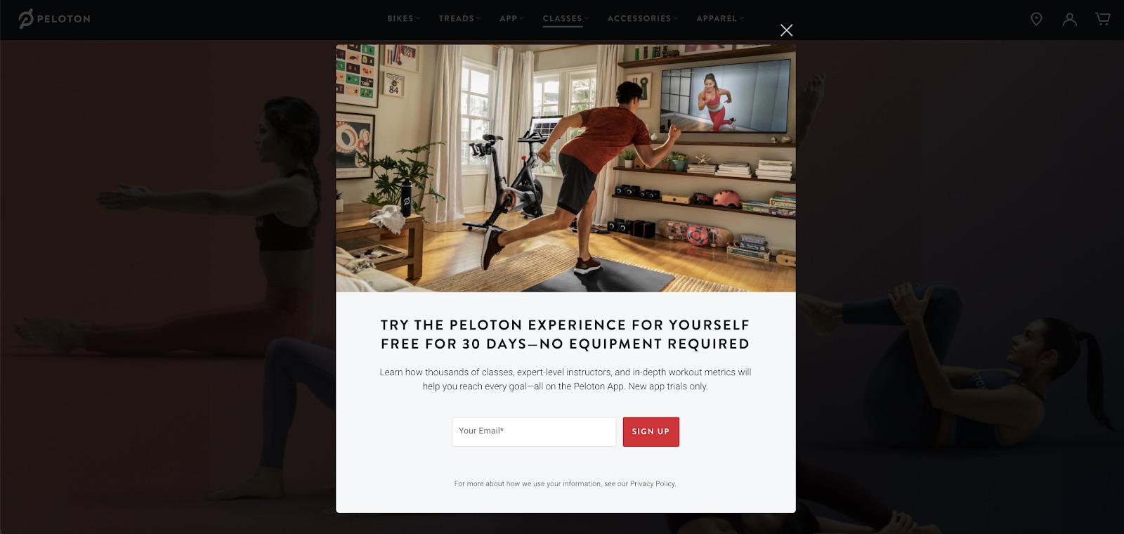 peloton example