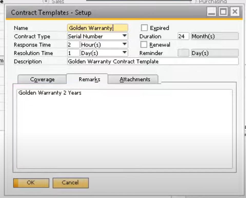 sap business one service module